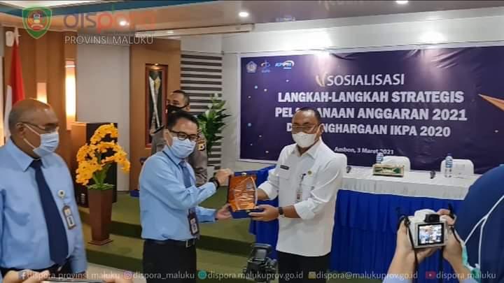 Dispora Maluku terpilih menjadi OPD Maluku Terbaik Rekonsiliasi Laporan Keuangan Tahun 2020