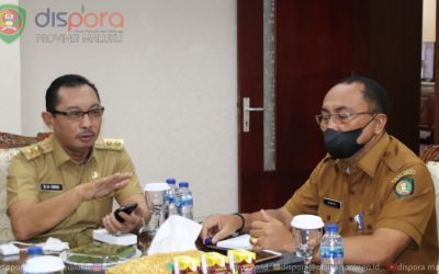 Rapat bersama Wagub Maluku persiapan PON Papua XX
